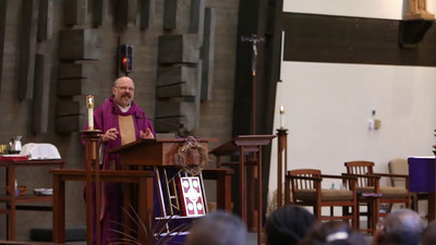 March 30, 2014 - 11:30 Mass by Fr Dave Gese - The blind and The Holy SeaHawks