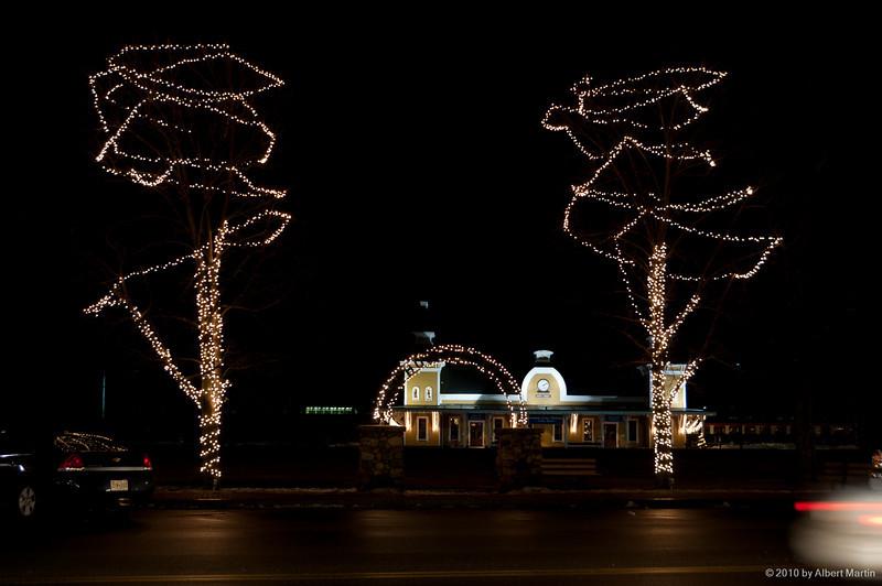 North Conway Station at Night 01
