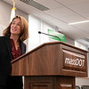 The Lt. Gov. Karyn Polito was on hand in Fitchburg for the Complete Streets Funding Program Awards FY20 Tuesday, Jan. 28, 2020. Polito the state highway administrator addresses the crowd at the event. SENTINEL & ENTERPRISE/JOHN LOVE