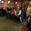 A small  crowd listens to the speakers at the announcement of the MassWorks grants to Leominster and Lancaster on Tuesday at Rye & Thyme in Leominster. SENTINEL & ENTERPRISE/JOHN LOVE