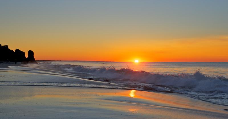 Breaker on Lucy Vincent Beach Sunrise
