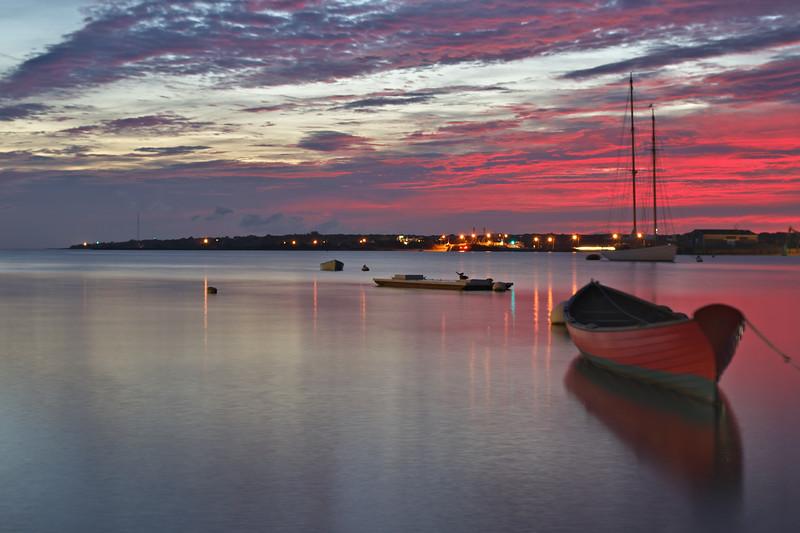 Red Boat Sunrise