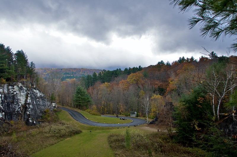 Misty fall day in the Berkshires
