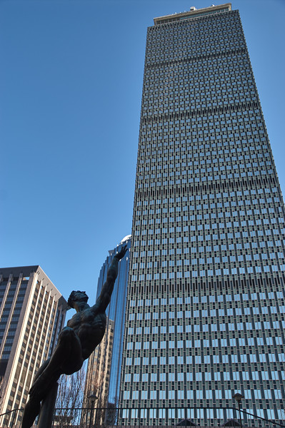 Hermes looks at the Prudential Tower