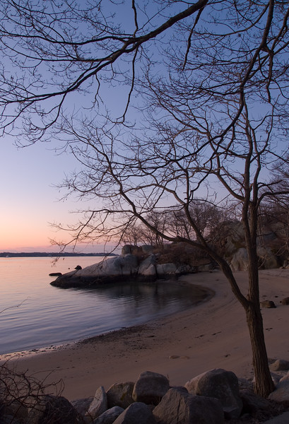 Winter morning, Half Moon beach