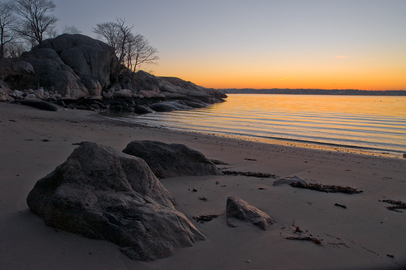 Dawn glow at Half Moon beach