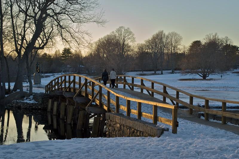 Winter Walk on the Old North Bridge