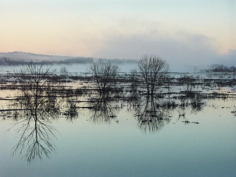 Dawn breaks on the Sudbury river