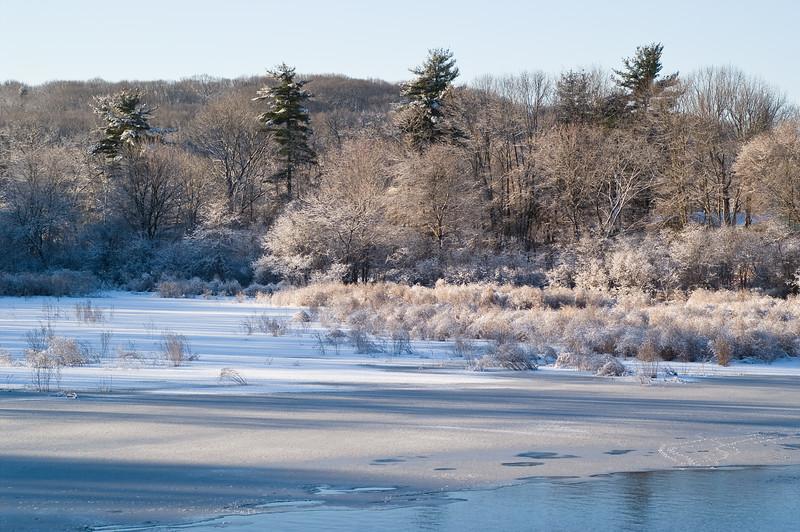 Winter river, Wickford road