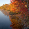 Fall riverbank