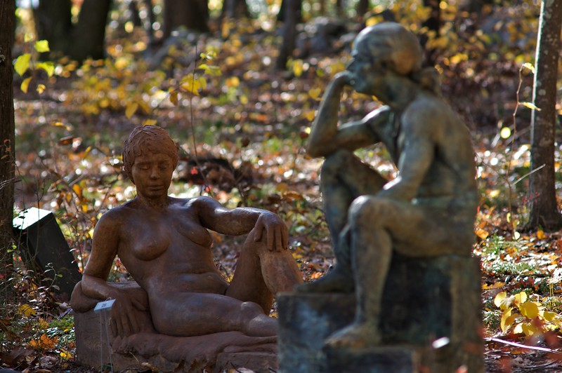 Seated Man, Reclining Woman by Carl White