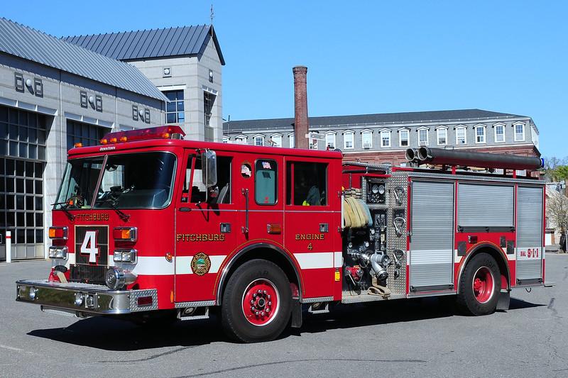 Fitchburg Fire Dept   Engine  4  1997  Pierce  Saber  1500/ 750
