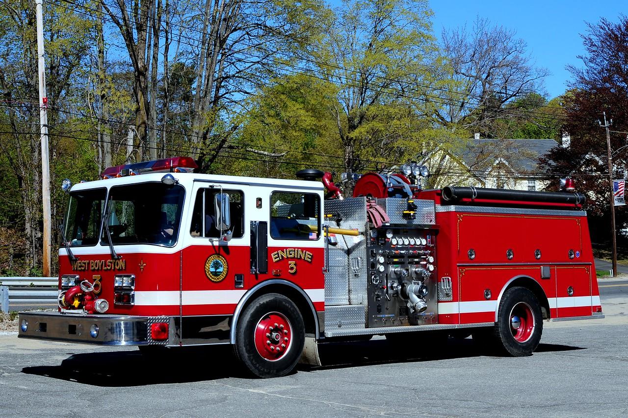 West  Boylston Fire Dept   Engine  3   1991  KME  1500/ 750/  35 B  Foam