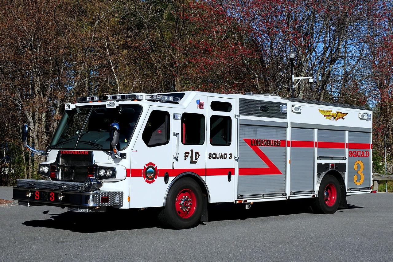 Lunenburg  Fire  Dept   Squad  3   2008  Emergency-One  Quest  1500/ 750/  125 Class AFoam / 125  Class B Foam