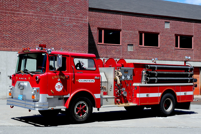 Clinton  Fire Dept   Engine 4  1974  Mack  CF  1250/ 1000  Ex- Sterling,  Ma