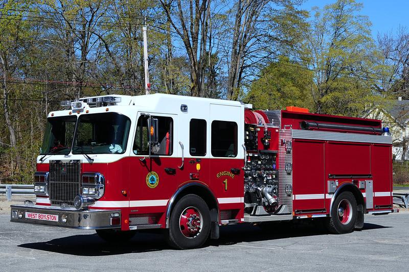 West Boylston  Fire Dept  Engine 1  2007  Spartan/ Smeal 1500/ 1000/ 20/ 20