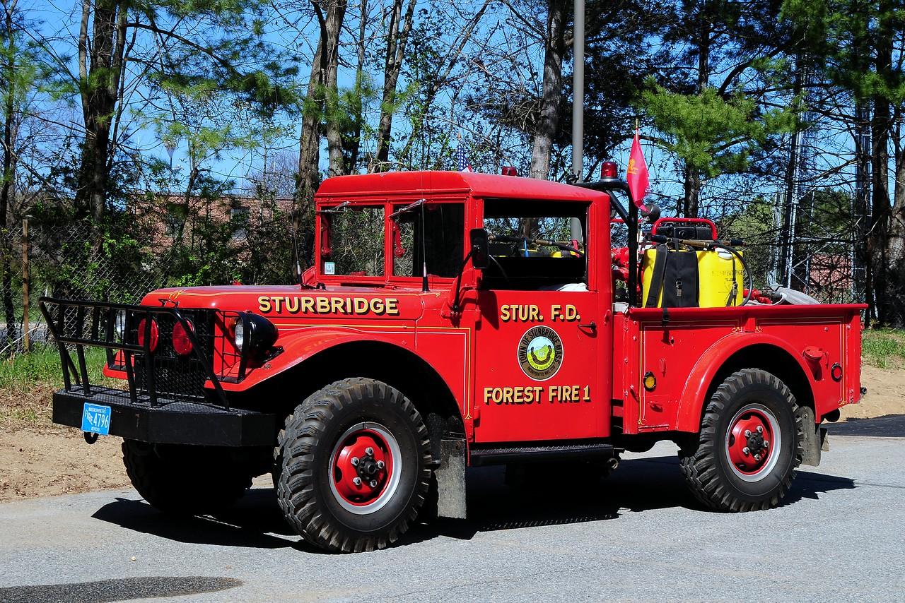 Sturbridge Fire  Dept     Forest  Fire  1  1954    Dodge  power Wagon   M-37   200/ 300   Type  6  Wildland  Engine