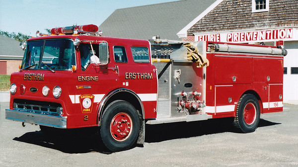 Retired Engine 156.  1986 Ford / E-One.  1250 / 1000 / 20F