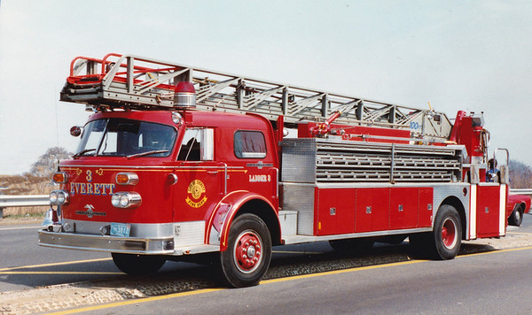 Retired  Ladder 3.  1973 American LaFrance   100' RM
