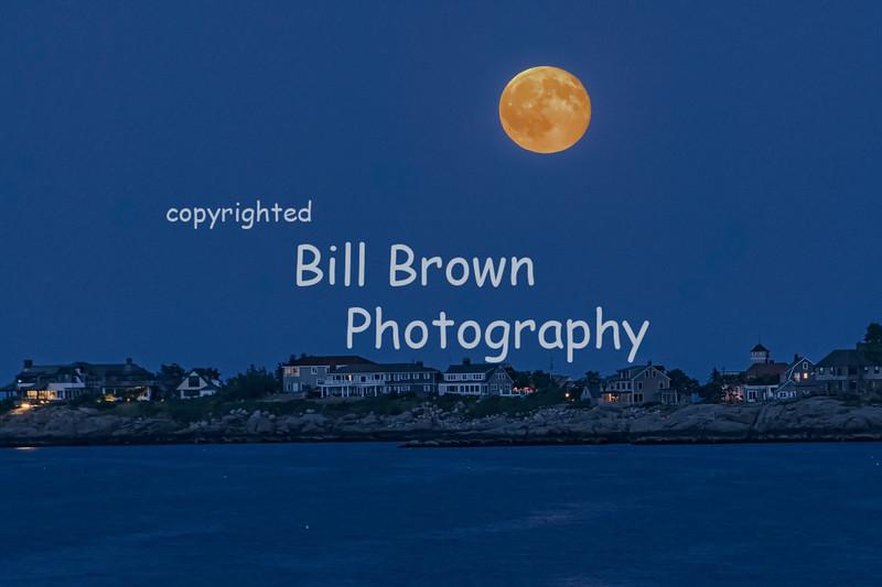 Full Moon over the Rocky Shore