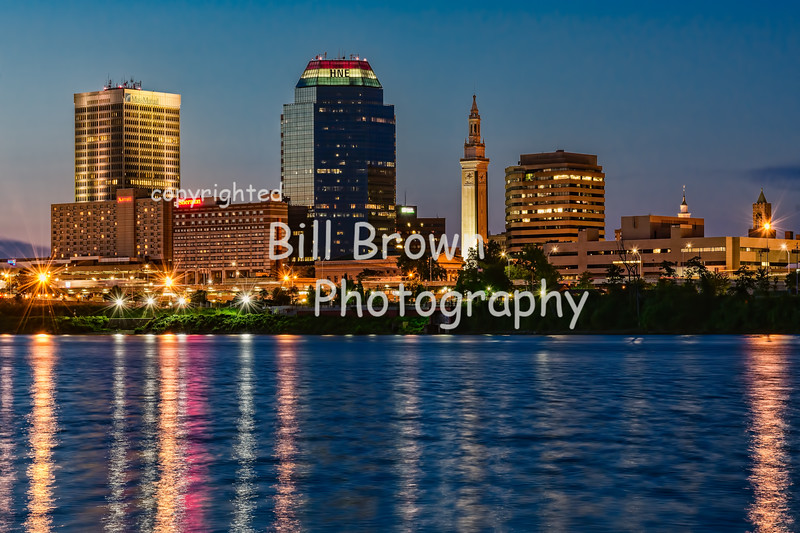 Downtown Springfield after Sunset