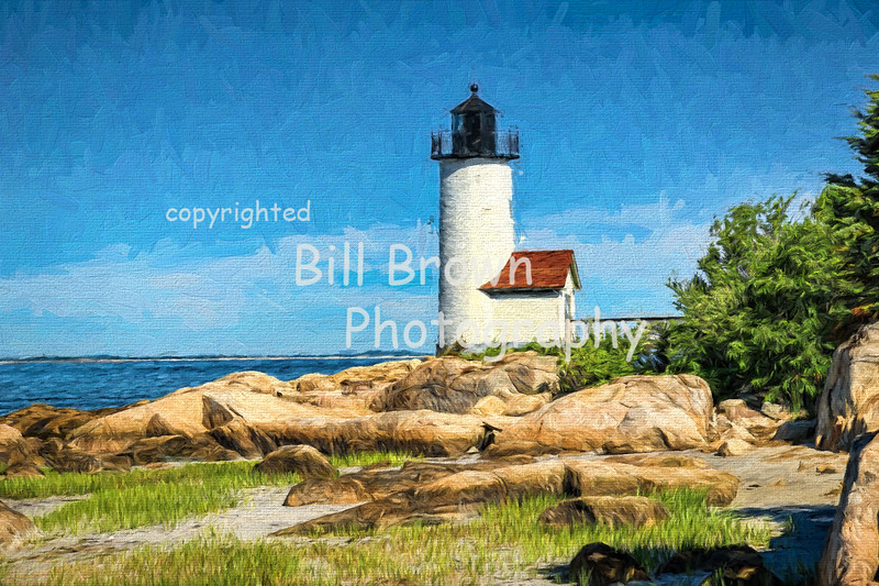 Annisquam Harbor Light with Rocks