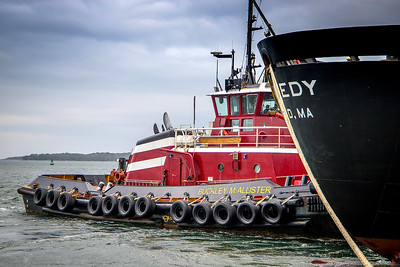 Tug Buckley McAllister at the stern