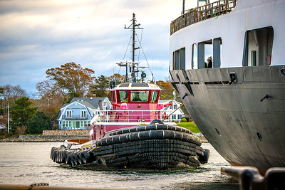 Tug 'Buckley McAllister' on stern assignment.