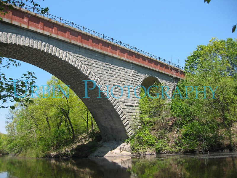 Echo Bridge, in Hemlock Gorge Park.  The park is in both Needham & Newton, MA.