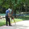 A man painting a field.  Taken at the Minuteman National Park in Concord; MA.
