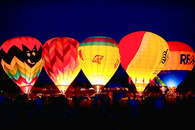 Balloon Glow, the balloons inflated to music, very cool!