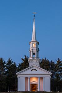 Martha Mary Chapel at blue hour