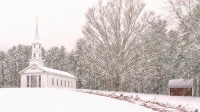 Martha Mary Chapel in the snow