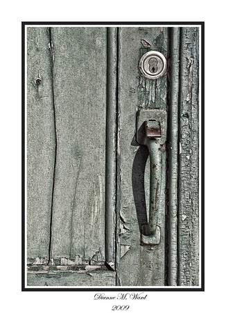 An old door at the Tewksbury State Hospital.