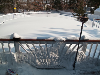Our pool is under there somewhere.