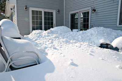 I had my work cut out for me, 4 storms worth of snow on the deck.