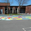 A map of the United States painted behind an Elementary School.<br /> This was the Eagle project for one of the members of my son's Scout Troop.