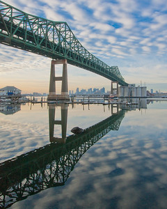 Tobin Bridge, Chelsea, Massachusetts, USA