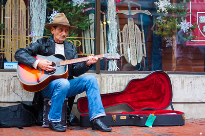 Tony Plays Guitar - Harvard Square, Cambridge, Massachusetts