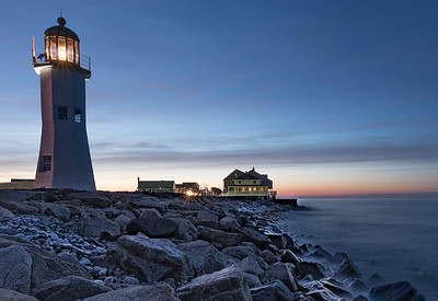 Blue hour at the Old Scituate Light