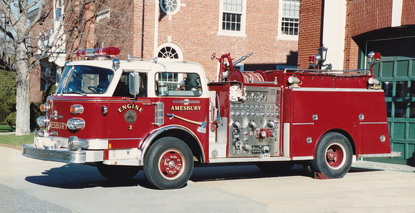 Retired Engine 3.  1978 American LaFrance Century   1250 / 500.