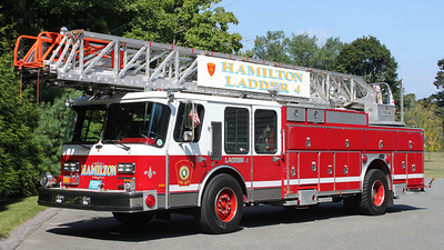 "Retired  Ladder 4 1988 E-One 110"" RM"