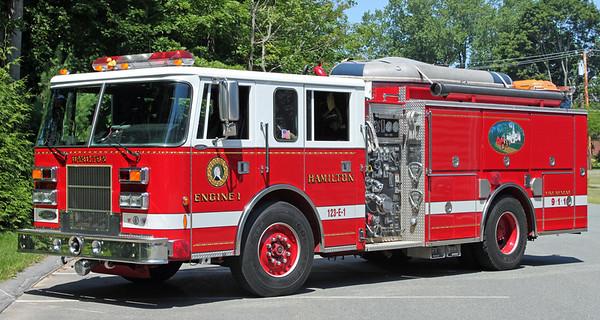 Retired.  Engine 1   1996 Pierce Saber   1250 / 750  (Old Lightbar)
