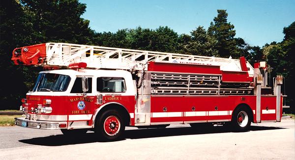 Retired Ladder 1.  1980 American LaFrance   100' RM.