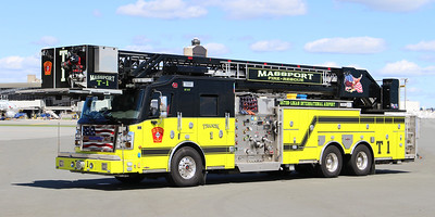 Truck 1.  2017 Rosenbauer Commander.  2000 / 300 / 100 F / 101' Tower
