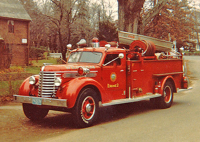 """Retired Engine 2.  1947 Diamond T """"First Fire Truck Picture"""""""