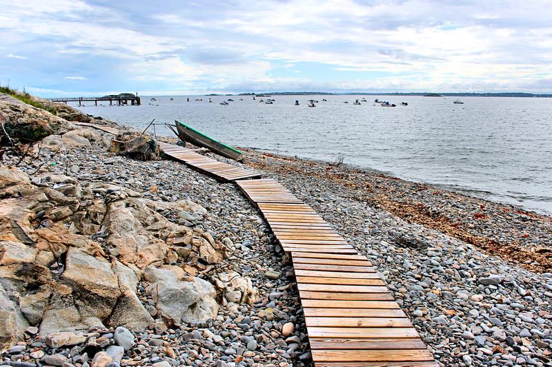 Landing on Bakers Island...