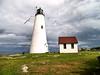 In April 1796 George Washington signed an appropriation of $6,000 to build the first Bakers Island Lighthouse.