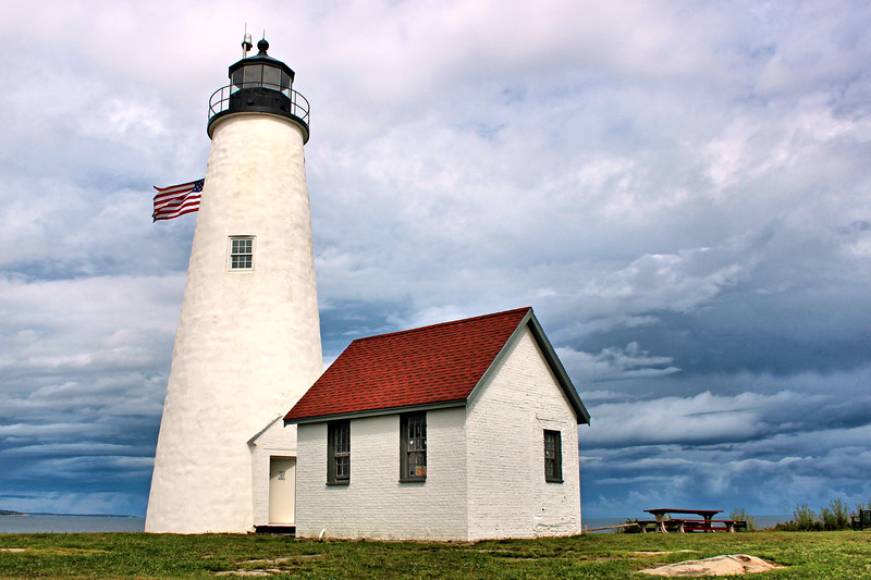 By 1996 the mortar used in the tower had deteriorated and the lighthouse walls had begun to buckle.  The Coast Guard rebuilt and repaired the tower section by section from the bottom up.  The tower exterior was covered with a stucco material.