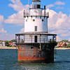 In 1894 Congress authorized the building of the Butler Flats Lighthouse at the entrance to New Bedford's harbor.  $45,000 was appropriated for the project in 1895. The light would serve to guide ships past a shallow area (the flats) and into the port safely.